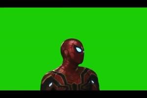 蜘蛛侠上半身 复仇者联盟 绿幕素材 绿屏抠像 特手机特效图片
