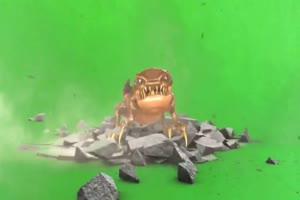 地裂 癞蛤蟆 蟾蜍 绿幕视频 绿屏视频 绿幕素材手机特效图片