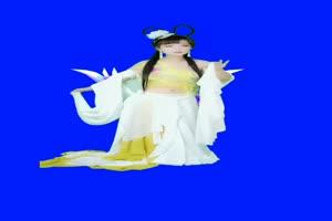 美女 49 仙女 跳舞 巧影抠像 AE抠像 绿幕素材手机特效图片