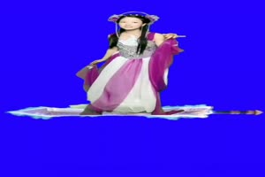美女御剑飞行 绿幕素材 巧影素材 特效抠像素材手机特效图片