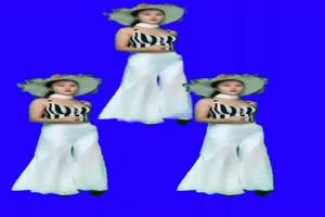 美女跳舞热舞绿幕素材 巧影素材 特效抠像素材手机特效图片
