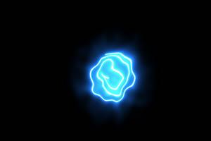 免费眼睛 Eye Swrill Single 手绘发光线条霓虹闪烁图手机特效图片