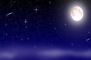 月色海面25 星空 月亮 夜晚 背景素材手机特效图片