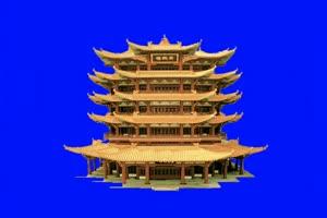 雷峰塔 绿幕塔 绿幕素材 古风素材 巧影绿幕素材手机特效图片
