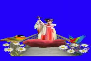 美女 130 仙女 跳舞 巧影抠像 AE抠像 绿幕素材手机特效图片