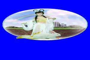 美女 156 仙女 跳舞 巧影抠像 AE抠像 绿幕素材手机特效图片