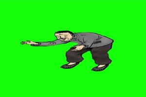 老爷爷1 童年农村儿时绿幕抠像素材免费下载@特手机特效图片