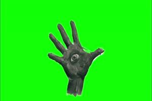 手掌 眼睛 幽灵 鬼魂 绿屏