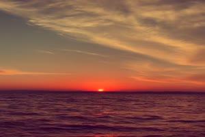 手机专用 夕阳海面 唯美风景视频背景素材 免费手机特效图片