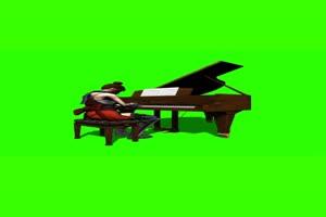 弹钢琴 绿幕抠像 特效素材 @特效牛手机特效图片