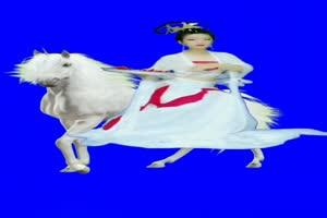 美女 144 仙女 跳舞 巧影抠像 AE抠像 绿幕素材手机特效图片