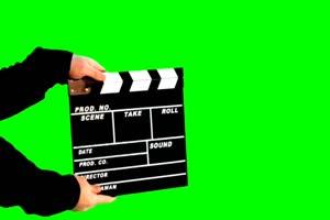 场记打板 拍电影咔 Cut 序幕打板 6 绿幕视频 抠像手机特效图片