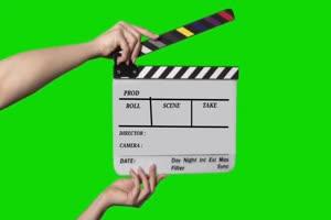 场记打板 拍电影咔 Cut 序幕打板 7 绿幕视频 抠像手机特效图片