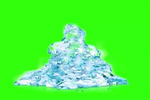 冰冻人素材 人物冻结特效 绿幕抠像 特效素材 手机特效图片