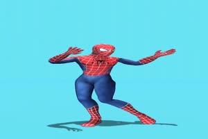 蜘蛛侠跳舞 绿幕抠像 特效素材 @特效牛手机特效图片