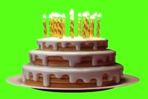生日蛋糕 绿幕抠像 特效素材 @特效牛手机特效图片