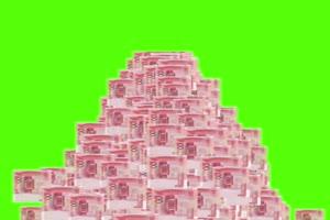 人民币 天降人民币 下钱绿布和绿幕视频抠像素材