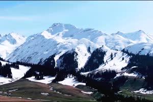 免费雪山 雪景雪峰 风景航拍 山水 山峰手机特效图片