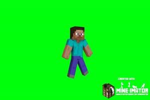 我的世界 Minecraft  史蒂夫 绿屏 抠像素材 ae 巧影