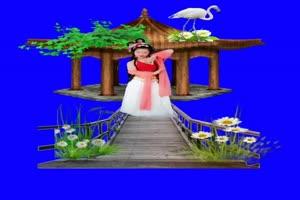 美女 178 仙女 跳舞 巧影抠像 AE抠像 绿幕素材手机特效图片