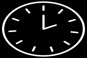 闹钟 时钟 钟表 标志 动态图标 黑底背景 抠像视手机特效图片