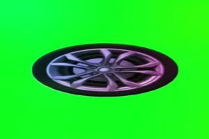 车轮 轮胎 绿幕视频 绿屏