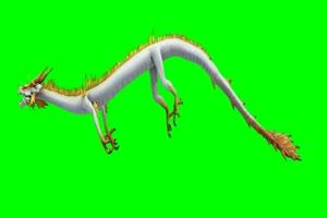 小白龙 飞天动物 绿幕抠像 特效视频 @特效牛手机特效图片