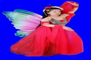 美女 158 仙女 跳舞 巧影抠像 AE抠像 绿幕素材手机特效图片