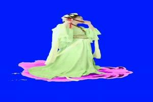 观音菩萨美女莲花 神仙特效 巧影素材 抠像素材手机特效图片