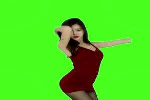 美女热舞跳舞素材 8 绿屏绿布和绿幕视频抠像素材