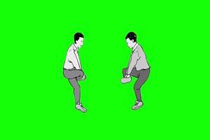 斗鸡 童年农村儿时绿幕抠像素材免费下载@特效牛手机特效图片