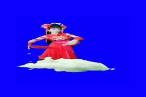 美女 173 仙女 跳舞 巧影抠像 AE抠像 绿幕素材手机特效图片
