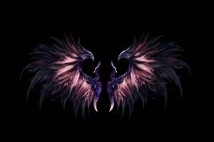 天使的翅膀 魔鬼的翅膀 黑幕背景 抠像素材 特效手机特效图片