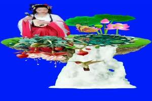 美女 94 仙女 跳舞 巧影抠像 AE抠像 绿幕素材手机特效图片