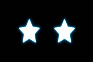 star 眼睛 手绘发光线条霓虹闪烁图形动画叠加素手机特效图片