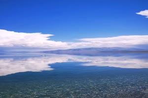 手机专用 海天一色 天空湖泊 剪映唯美风景背景手机特效图片