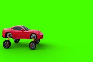 会飞的汽车 绿屏素材 特效绿布和绿幕视频抠像素材