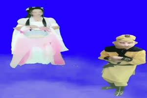 美女 孙悟空 巧影抠像 AE抠像 绿幕素材手机特效图片