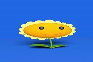 植物大战僵尸之太阳花 绿幕抠像 特效素材 @特效手机特效图片