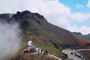 免费山边雾霾  风景航拍 山水 山峰手机特效图片