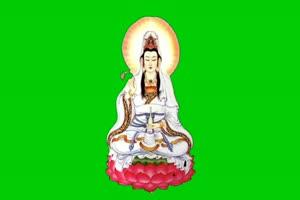佛主 观音 菩萨 绿屏抠像素材 1手机特效图片