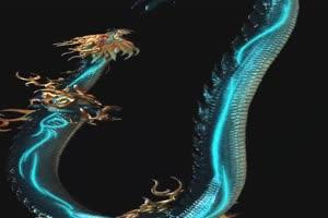 神龙 五彩神龙 飞天动物 绿幕抠像 特效视频 @特手机特效图片