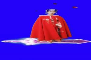 美女 御剑飞行特效 仙女 跳舞 巧影抠像 AE抠像手机特效图片