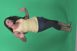 免费美女跳舞5 美女跳舞热舞 绿幕抠像 绿屏素材手机特效图片