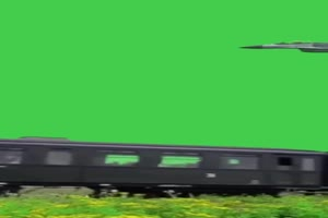 火车素材 火车驶来 绿幕素