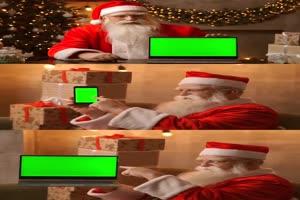 2020_12_24_圣诞节手机电脑屏幕 绿幕素材 绿屏素材手机特效图片