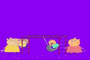 小猪佩奇游乐场抠像素材
