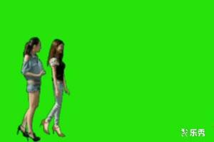 美女热舞 古装美女 绿屏素