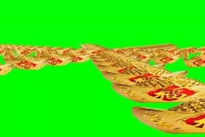 人民币 天降人民币 下钱 3 绿屏抠像素材 巧影A手机特效图片