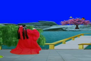 美女 71 仙女 跳舞 巧影抠像 AE抠像 绿幕素材手机特效图片